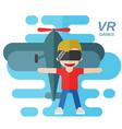 virtual reality games flat vector image vector image