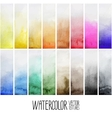 Watercolor gradient rectangles vector image vector image
