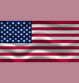 waving usa flag for your vector image