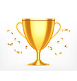 winner cup on a white vector image vector image