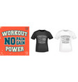 workout power t shirt print stamp vector image