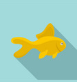 yellow fish icon flat style vector image vector image