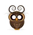 Halloween holiday crazy owl vector image