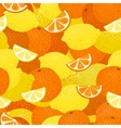 Lemons and Oranges Seamless Pattern vector image