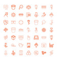 49 flower icons vector image vector image