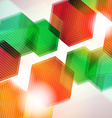 Abstract Colorful Futuristic Hexagone Background vector image