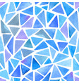 abstract pattern with blue triangles vector image vector image