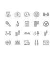 auto parts sales line icons signs set vector image