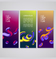 banner set with abstract dynamic background design vector image vector image