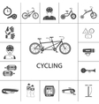 Bicycle Black Icons Set vector image vector image