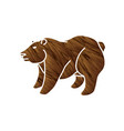 big bear standing cartoon graphic vector image vector image