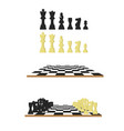 black and white chess chessboard in flat style vector image vector image