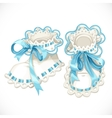 Blue booties for newborn vector image