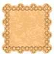 brown frame with grunge background vector image vector image