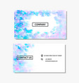 business card with a pink and blue watercolor vector image