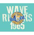 CAlifornia wave rider vector image vector image