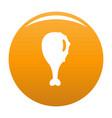 chicken thighs icon orange vector image