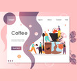coffee website landing page design template vector image vector image
