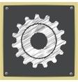 cogwheel icon Epschalk drawn in sketch vector image
