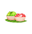 colorful kue mangkok traditional indonesian vector image vector image
