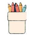 crayons colors in holders vector image
