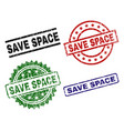 damaged textured save space seal stamps vector image vector image