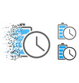 disappearing pixel halftone battery time icon vector image vector image