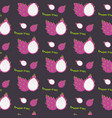 dragon fruit seamless repeating pattern hand vector image