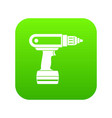 electric screwdriver drill icon digital green vector image vector image