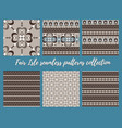 fair isle beige brown blue white seamless pattern vector image vector image
