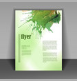 flyer with watercolor blot vector image vector image
