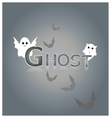 Ghost design background vector image vector image