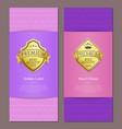 golden label best choice luxury guarantee premium vector image