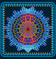 greek colorful round mandala pattern square vector image