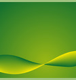 green background with lines vector image vector image