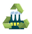 isolated eco factory design vector image
