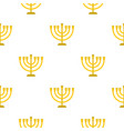 jewish menorah with candles pattern flat vector image vector image