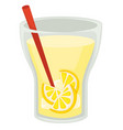 lemonade drink in cup with straw lemon slices in vector image