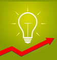 light bulb with arrow concept for start ups vector image vector image