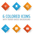 media icons set collection of letter chat vector image