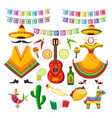 mexican party decorations vector image