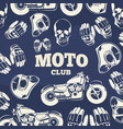moto club grunge vintage background vector image vector image