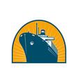 Ocean passenger liner boat ship vector image vector image