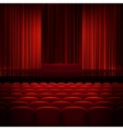 Open theater red curtains EPS 10 vector image vector image