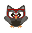 owl funny stylized icon symbol brown colors vector image vector image
