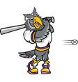 owl sports logo mascot baseball vector image vector image