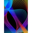 Psychedelic abstract black background with