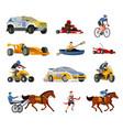 racing evolution elements set vector image vector image