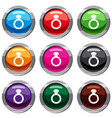 ring with gemstone set 9 collection vector image vector image