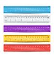 school plastic ruler measure tools vector image vector image